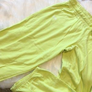 Under Armour Neon Yellow Lounge Joggers Capris